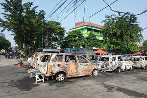 CEK FAKTA: Dampak Kerusuhan, Asrama Brimob Petamburan Dibakar?