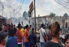 142 Lapak dan Kios di Pasar Girian Bitung Ludes Terbakar