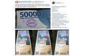 Beredar Foto Uang Berstempel Prabowo di Media Sosial