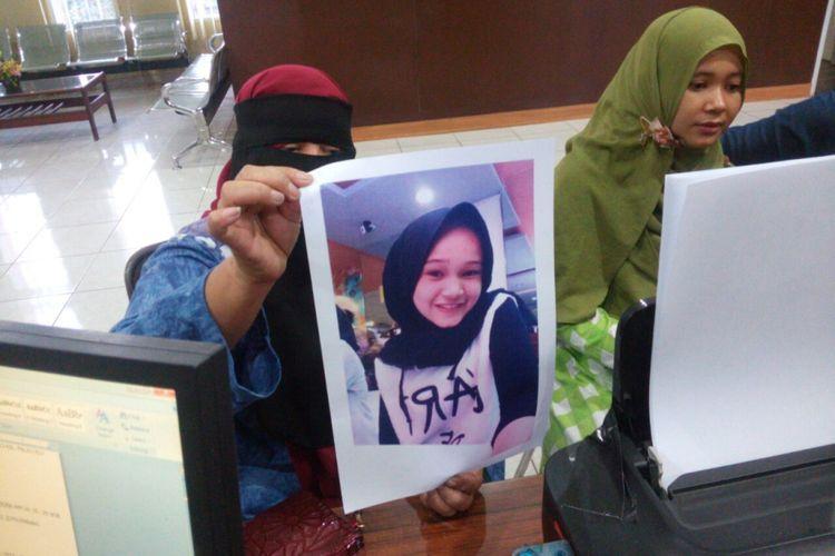 Jihan gadis cantik yang hilang dari rumahnya di Palembang, Sumatera Selatan.