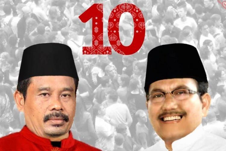 Foto paslon presiden dan wakil presiden fiktif, Nurhadi-Aldo, dengan nomor urut 10.