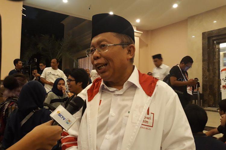Wakil Ketua Tim Kampanye Nasional (TKN) Jokowi-Maruf, Arsul Sani, di Hotel Sultan, Jakarta Pusat.