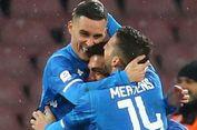 Hasil Liga Italia, Napoli Menang atas 10 Pemain Lazio