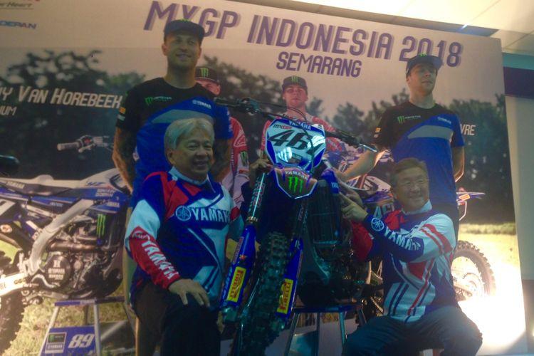Meet and Greet dua pebalap tim Monster Energy Yamaha Factory sebelum balapan di seri 13 MXGP Indonesia, Jumat (6/7/2018)