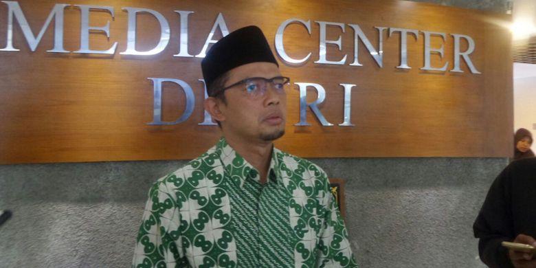 Wakil Sekretaris Jenderal DPP PKB, Maman Imanulhaq di Kompleks Parlemen, Senayan, Jakarta, Kamis (9/11/2017).