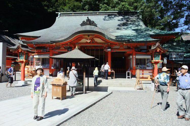 Kumano Nachi Grand Shrines & Seigantoji Temple di Kumano, Wakayama, Jepang.