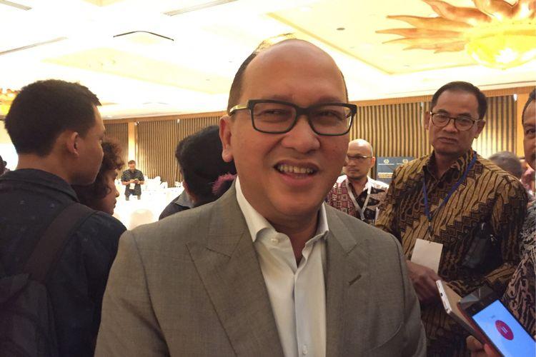 Ketua Umum Kamar Dagang dan Industri (Kadin) Rosan Roeslani saat menghadiri acara di Hotel Aryaduta, Jakarta Pusat, Kamis (2/11/2017).