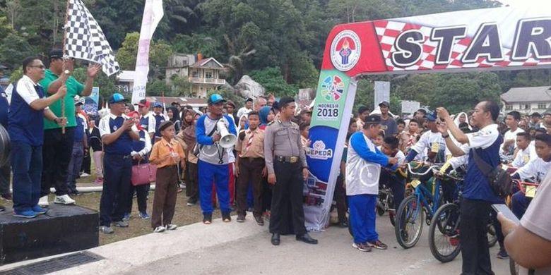 Sebanyak 1.500 orang mulai berdatangan untuk memeriahkan acara Sepeda Nusantara (SN) 2018 bertemakan Bangun Indonesia, yang diinisiasi oleh Kementerian Pemuda dan Olahraga (Kemenpora) dibawah payung Ayo Olahraga.