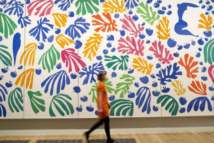 Tate Modern, galeri seni modern dan kontemporer di London, Inggris.