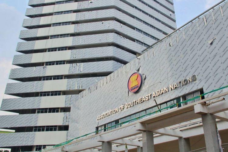 Gedung Sekretariat ASEAN di Jalan Trunojoyo Nomor 1, Kebayoran Baru, Jakarta Selatan.