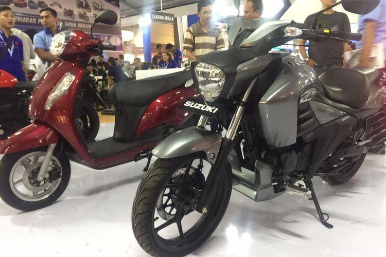 Suzuki Intruder yang dipamerkan di Jakarta Fair Kemayoran 2018