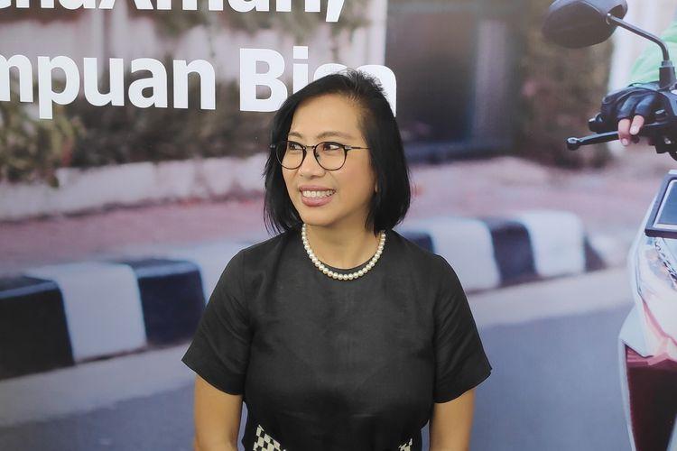 Ilustrasi Neneng Goenadi, Managing Director Grab Indonesia, saat ditemui awak media di sela acara peluncuran fitur terbaru Grab, Senin (22/4/2019)