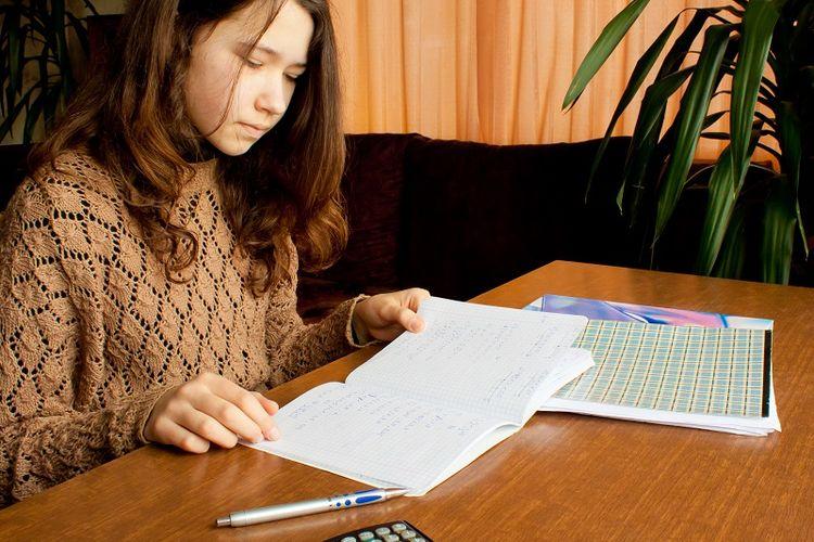 Ilustrasi anak belajar matematika