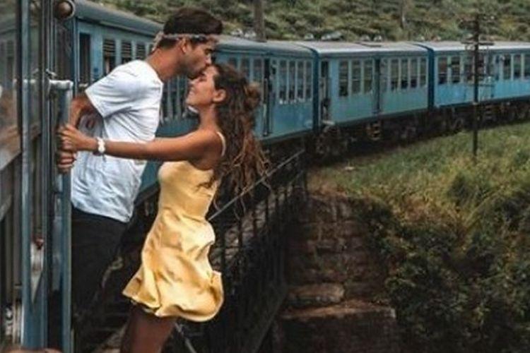 Jangan dicontoh! pasangan influencer berfoto berbahaya dan dikritik netizen.