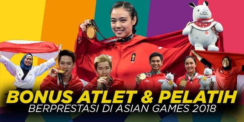 Bonus Atlet dan Pelatih berprestasi di <a href='https://manado.tribunnews.com/tag/asian-games-2018' title='AsianGames2018'>AsianGames2018</a>