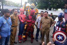 15 Camat Dikawal Super Hero 'Avengers' Saat Diperiksa Bawaslu Sulsel