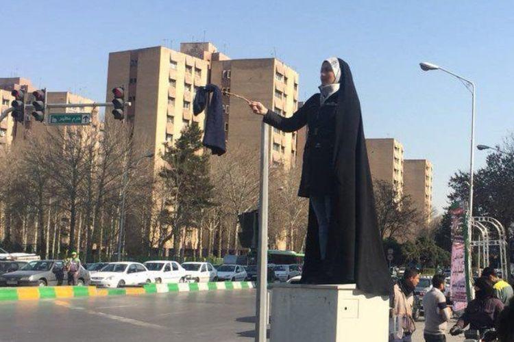 Unjuk rasa ini terjadi di sejumlah kota di Iran.