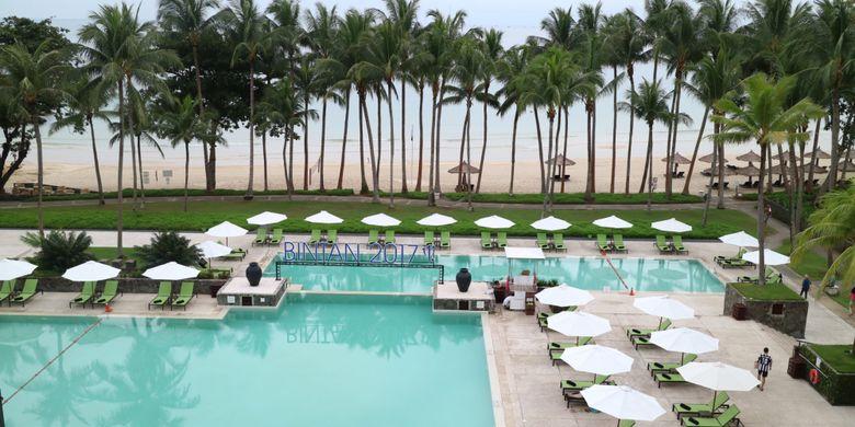 Club Med Bintan yang menyajikan pengalaman liburan yang lebih natural healty, meyajikan beragam aktifitas sehat yang bisa dilakukan di alam terbuka, termasuk menghadap ke pantai Lagoi.