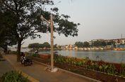 Jelang Asian Games, Trotoar Waduk Sunter Dipasangi Lampu Taman