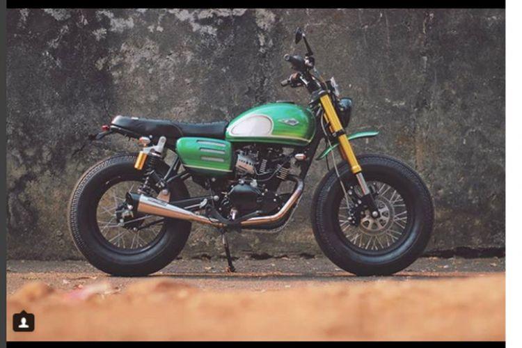 Motor custom untuk Presiden Joko Widodo buatan Katros Garage model tracker