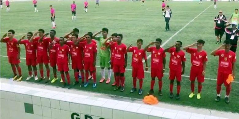 Timnas Pelajar U-15 Kemenpora sukses melangkah ke babak delapan besar turnamen IBER Cup 2019 yang berlangsung di Estoril, Portugal, setelah menundukkan wakil dari Portugal, GDS de Cascais melalui drama adu penalti dengan skor akhir 7-6.