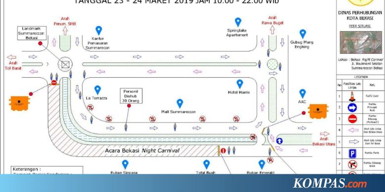 "SMRA Ada ""Bekasi Night Carnival"", Jalan di Sekitar Mal Summarecon Akan Dialihkan - Kompas.com"