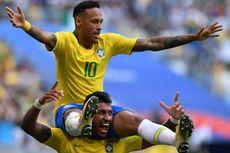 [HOAKS] Bus Neymar dkk Dilempari Telur Saat Tiba di Brasil