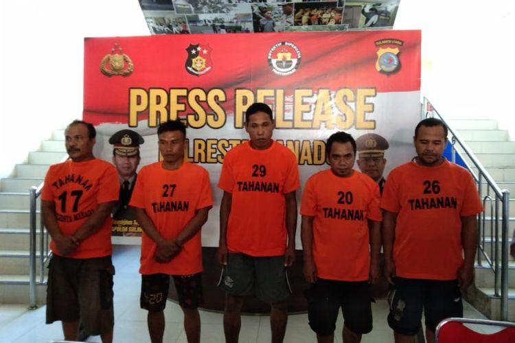 Lima Pencuri di Rumah Camat Mapanget Manado Diringkus