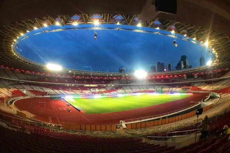 Stadion Utama Gelora Bung Karno, Jakarta, telah rampung direnovasi.