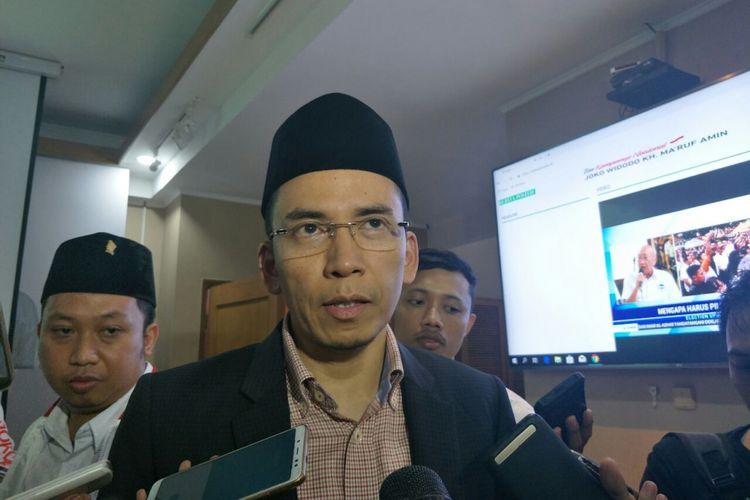 Ketua Korbid Keumatan DPP Partai Golkar Tuan Guru Bajang (TGB) Zainul Majdi di Posko Cemara, Kamis (7/2/2019).