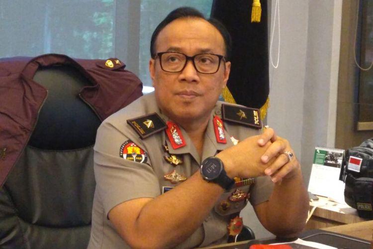 Kepala Biro Penerangan Masyarakat Humas Brigjen (pol) Dedi Prasetyo di Gedung Humas Mabes Polri, Jakarta, Senin (5/3/2019).