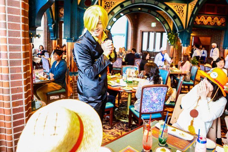 Restoran Bajak Laut Sanji yang begitu popular sehingga tiketnya selalu terjual habis setiap hari. Foto tahun lalu