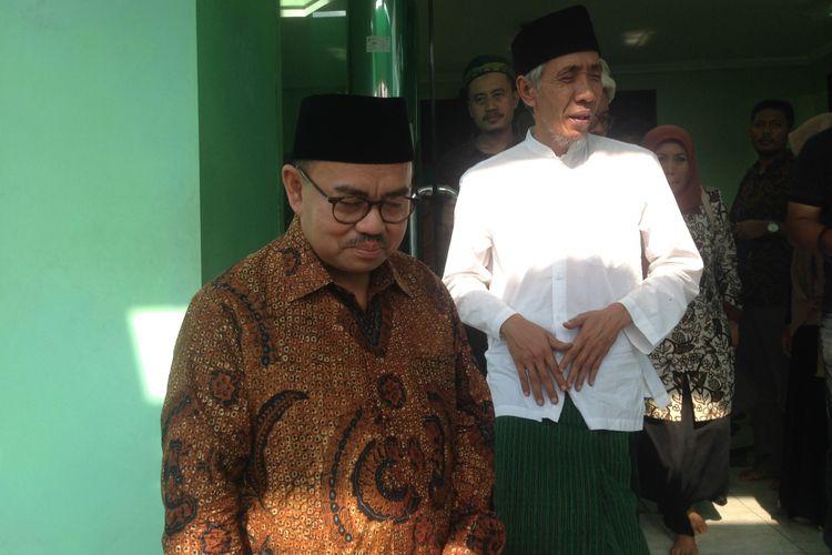 Calon Gubernur Jateng Sudirman Said saat silaturrahmi dengan jajaran pengurus PWNU Jawa Tengah, Senin (16/4/2018)
