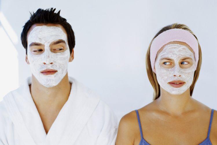 Ilustrasi memakai masker