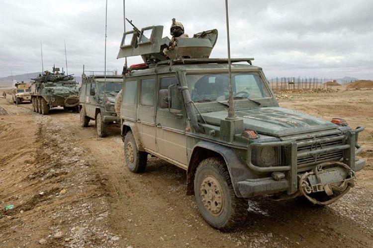 G-Wagon yang digunakan Tentara Kanada di Afganistan.