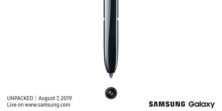 Ilustrasi poster acara Galaxy Unpacked 2019