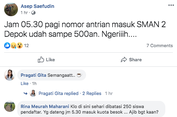 'Ngeriiih...', Orangtua Mulai Mendaftar PPDB 2019 Depok Jam 5 Pagi