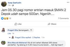 PPDB 2019 SMA Depok Diwarnai 'Jastip' Nomor Antrean