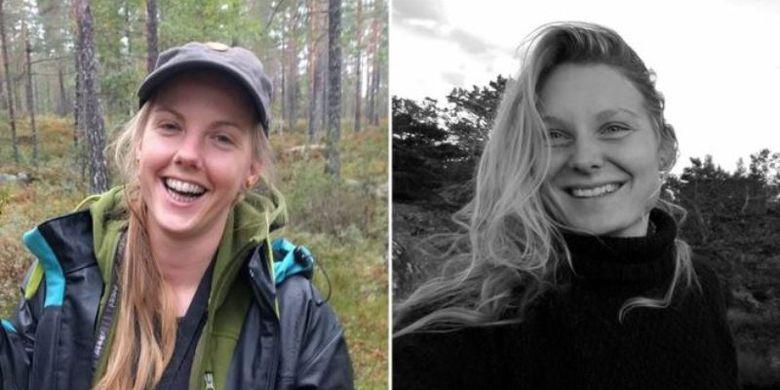Louisa Vesterager Jespersen (kanan) dari Denmark dan Maren Ueland (kiri) dari Norwegia ditemukan tewas dengan luka pada leher pada Senin (17/12/2108) di Pegunungan Atlas, Maroko. (Facebook via BBC)