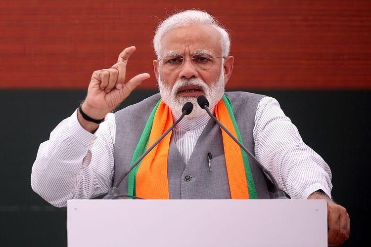 Narendra Modi, perdana menteri sekaligus pemimpin Bharatiya Janata (BJP) partai berkuasa di India saat ini.