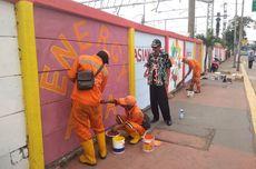 Warna-warni Mural Asian Games Hiasi Tembok Stasiun Jatinegara