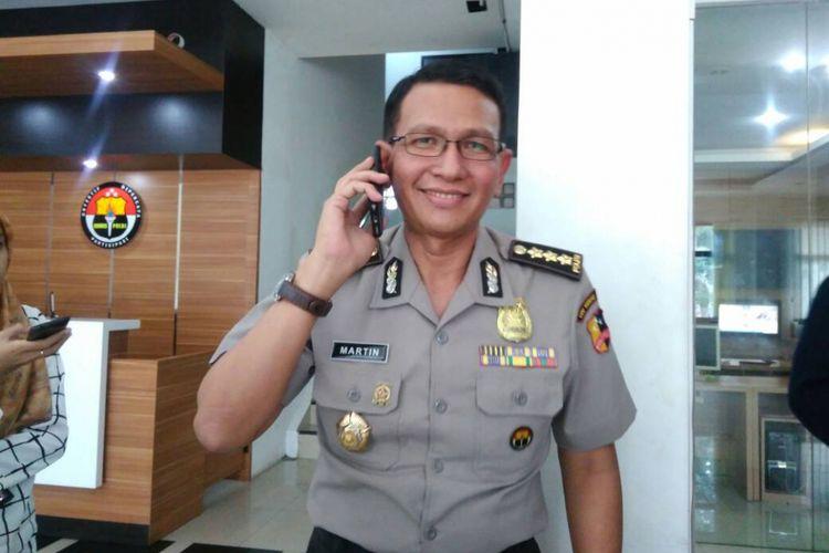 Kepala Bagian Penerangan Umum Divisi Humas Polri Kombes Pol Martinus Sitompul di Mabes Polri, Jakarta, Kamis (15/6/2017).