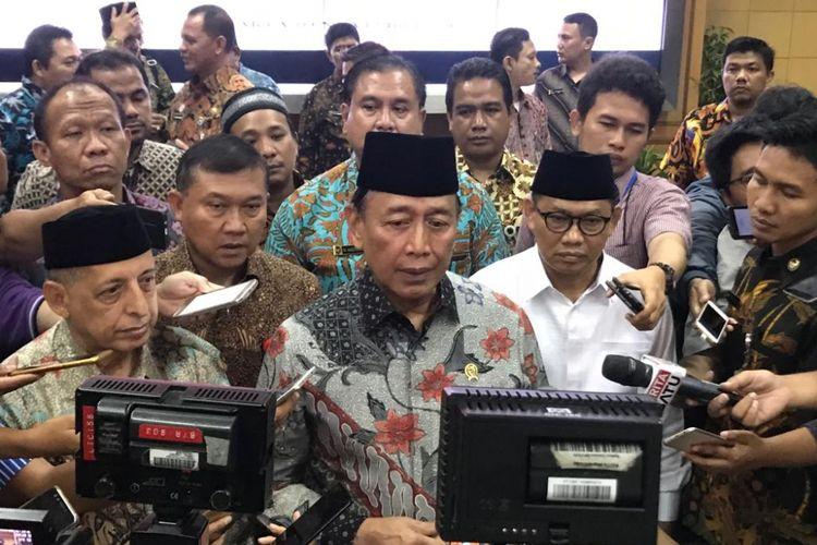 Menteri Koordinator Politik, Hukum, dan Keamanan (Menko Polhukam) Wiranto, di Kantor Kemenko Polhukam, Jakarta Pusat, Jumat (9/11/2018).
