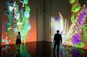 Taman Interaktif dengan Bunga-bunga Virtual Hadir di Paris