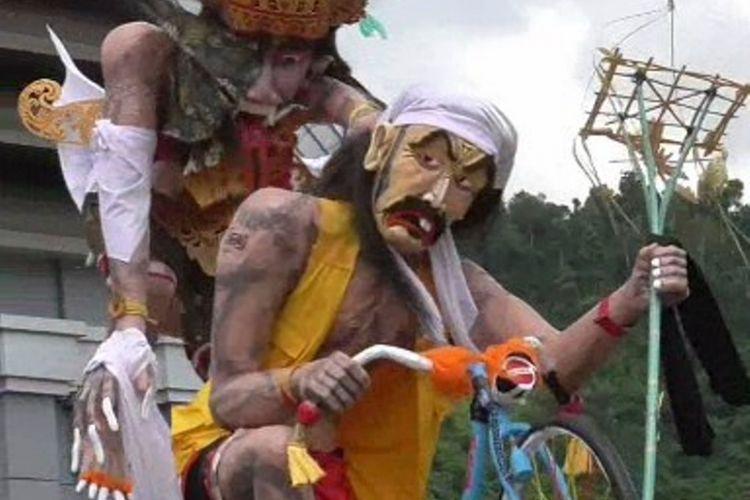 Pawai ogoh-ogoh unik untuk menyambut hari raya Nyepi jadi wahana wisata religi yang meriah di mateng