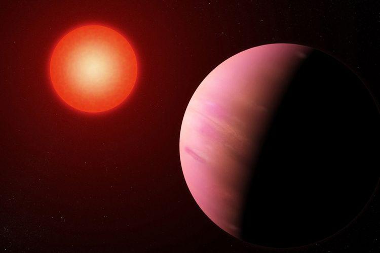 Ilustrasi planet yang baru ditemukan K2-288Bb. Ukurannya diperkirakan dua kali lipat Bumi atau sekitar setengah ukuran Neptunus.