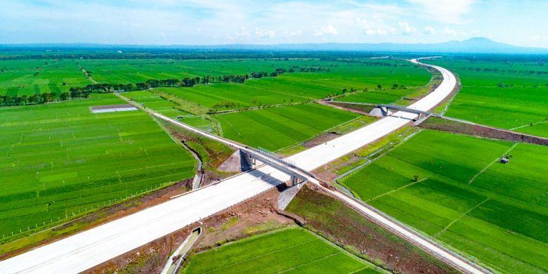 Tol Ngawi Kertosono yang siap untuk dioperasikan.