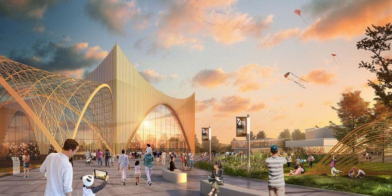 Tempat ini akan menjadi pusat riset,pendidikan, sekaligus konservasi giant panda.