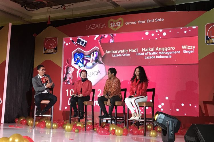 Konferensi Pers Lazada 12.12 Grand Year End Sale di Jakarta Pusat, Selasa (4/12/2018)