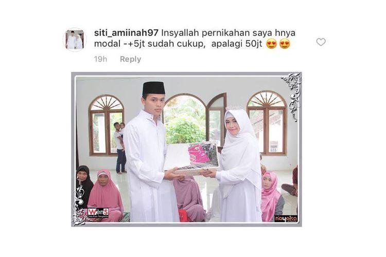 Seorang netizen, Siti Aminah, berbagi cerita tentang pernikahannya yang hanya menghabiskan dana Rp 5 juta.